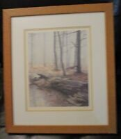 "Signed Lithograph ""Late Autumn"" by Paul Rupert"