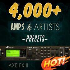 ✪ 4,000+ PRESETS & 600 Bonus Cabs✪ Fractal AXE-FX II✪ Platinum Collection