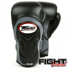 Twins BGVL6 Deluxe Boxing Gloves - Grey/Black - FREE P&P - Muay Thai, MMA