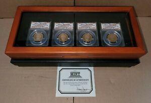 2010-S Presidential Dollar 4 Coin Proof Set ANACS PR70 DCAM W/ Case & COA