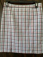 TOMMY HILFIGER WOMENS SKIRT SIZE 2 Blue Plaid NWOT