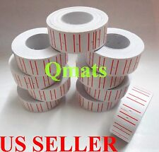 20rolls=14000 White Sales Tag label Refill Mx M L-5500 989 Price Gun Very Sticky