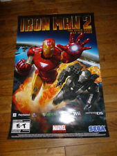 Iron Man 2 Poster Video Game Wii Xbox Play Station Sega Nintendo Marvel
