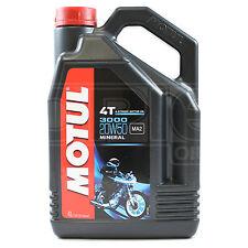 Motul 3000 4T 20W-50 4 Stroke Motorcycle Motorbike Engine Oil 4 Litres 4L