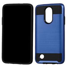 For LG Rebel 2 / L58VL PHONE BLUE BRUSHED COVER CASE + STAND HOLSTER + SP FILM