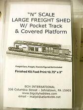 BCH INTERNATIONAL LARGE FREIGHT SHED KIT w/ COVERED POCKET TRACK PLATFORM N
