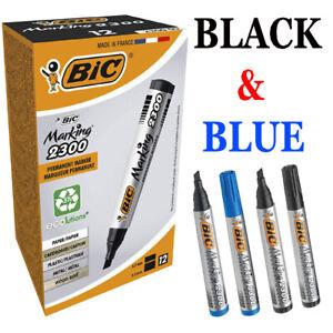 BIC MARKING 2300 PERMANENET MARKER PEN (THICK) BLACK / BLUE