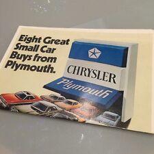 1974 74 Chrysler Plymouth Valiant Scamp Duster ORIGINAL Brochure