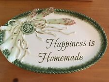 "Fitz and Floyd Giardino ""Happiness is Homemade"" Sentiment Tray New In Box"