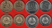 Transnistria set of 4 coins: 5 - 50 kopeek 2005 UNC
