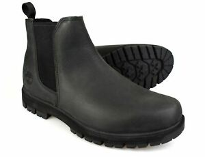 Timberland Radford Dark Grey Leather Mens Chelsea Boots RRP £155 Free UK P&P!