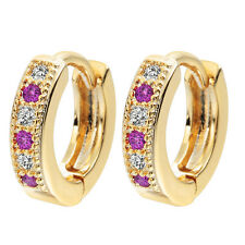 Colorful Classic Hoop Baby CC Earrings Wedding Zirconia Earring For Girls Teen