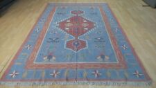 "Large Turkish Kilim CARPET RUG Hand Made Traditional  WOOL 8ft 9"" x 5ft 11"""