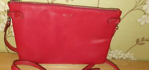 OSPREY LONDON Leather Cross-Body Bag The Libby Calf in Red