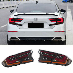 LED Taillights Assembly For Honda Accord 2018-2020 Dark Replace OEM Rear lights