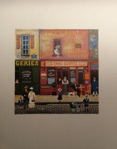 """Michel Delacroix """" Chez Clovis """" stone signed lithograph"""