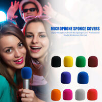 10pcs Microphone Foam Professional Studio Windscreen Mic Sponge Cover Cap