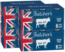 More details for butcher's wet dog food tin cans grain free tripe mix 9.6kg (24 x 400g)