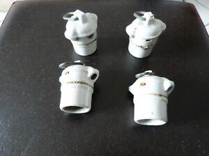 """Ancienne douille porcelaine """"lot de 4"""" vintage"""