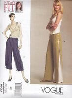 Vogue Today's Fit by Sandra Betzina Trousers Pants Sewing pattern from UK V1050