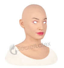 FEMALE SILICONE MASK CROSS DRESS TRANSGENDER RUBBER REALISTIC DISGUISE LIFE LADY