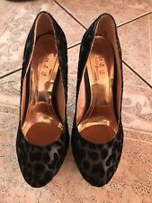 Exotic Black Animal Print High Heels Size 7