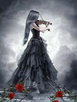 Full drill Diamond Painting Violin Beauty Rose Flower Fashion Handicraft 7032X