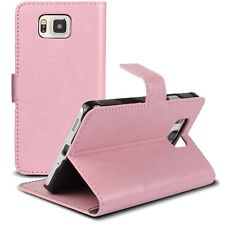 Coque Housse Etui Smart Cover Folio Stand Galaxy Alpha G850 Cuirette Retro Rose