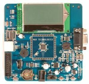LPC11U37 ARM Cortex-M0 Board, 68x128 LCD, USB, RS232, PS/2