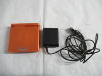 L465 Gameboy Advance SP console Pokemon Center LTD Torchic Orange GBA w/adapter