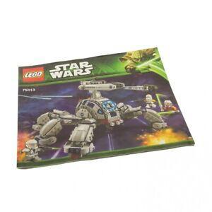 1x LEGO Instruction de Montage Star Wars Clone Wars Umbaran Cmh Canon 75013