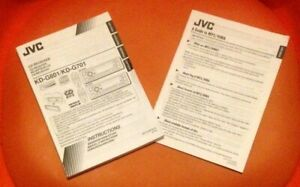 jvc car stereo cd reciever kd-g801 and 701 manuals only