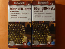 2 Kartons !! LED Lichter Netz 90er Lichterkette AUSSEN warmweiß Weihnachten 10m