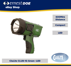 Clu-Briter Club-1G Green LED Pistol Style Chargeable Torch