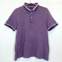 Ted Baker Mens Purple Short Sleeve Polo Size S