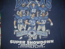 Vintage 90's Dallas Cowboys Tony Casillas Jay Novacek Bill Bates T shirt XL