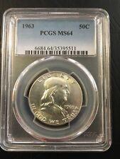 1963 50C Franklin Half Dollar PCGS MS64 (G567)