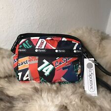 NWT LeSportsac Candace Convertible Crossbody - Varsity Collage Print - MSRP $75