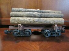 BACHMANN TRAIN G SCALE BIG HAULERS FLAT CAR WITH LOGS AND METAL WHEELS #1
