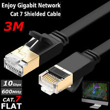 3M RJ45 CAT7 Network Ethernet 10Gbps Gigabit Patch Cable For Gaming Xbox ADSL PC
