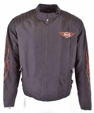 HARLEY DAVIDSON Mens Moto Racer Jacket Size 40 Large Black Nylon  NN58