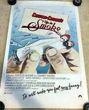 """CHEECH MARIN & TOMMY CHONG Signed Autographed 24x36 """"UP IN SMOKE"""" Poster JSA"""