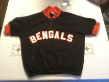 Cincinnati Bengals SEWN Warmup Jersey Jacket Mens Medium Majestic NFL Football