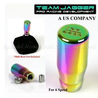 FOR EURO CAR! M12 THREADED! USA 6-SPEED LONG STYLE MANUAL SHIFT KNOB NEOCHROME