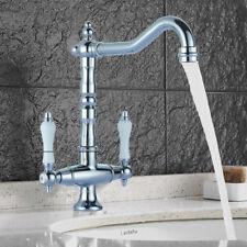 Retro Zweigriff  Badezimmer Wasserhahn Nostalgie Waschtisch Armatur VICT01