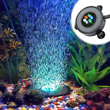 LED Aquarium Fish Tank Air Stone Bubble Diffuser with 6 Color Change LEDs for