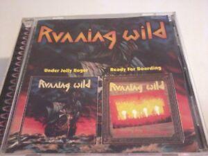 RUNNING WILD Under Jolly Roger/Ready For Boarding CD Album POST FREE