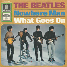 """7"""" - THE BEATLES-Nowhere Man/what goes on-ODEON 23171-de 1966"""
