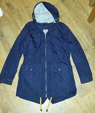 NUOVO senza etichetta Prossimo Navy ripiegare Pioggia MAC Cappotto Giacca Taglia 8