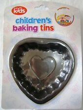 NEW CHILDRENS METAL BAKING TIN MOULD FOR CAKE JELLY ETC HEART RSW